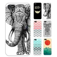 S9Y Art Sun Sea Elephant Chevron Back Cover Case Skin Protector For iPhone 5C & with a Free Gift (YH-B)