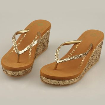 Steve Madden Crown Fashion Women Platform Sandal Slipper Shoes