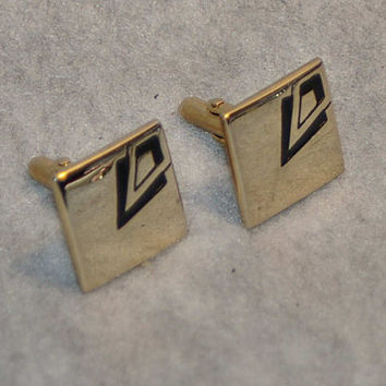 Swank Deco Goldtone Cufflinks