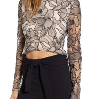 WAYF Mina Cropped Lace Top | Nordstrom