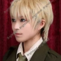 Flyingdragon Powers Hetalia England Arthur Kirkland Rosa Short Blonde Cosplay Wig
