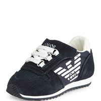 Mock Lace-Up Sneaker, Indigo/White, Sizes 5-13 - Armani Junior