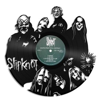 Slipknot Wall Art Heavy Metal Wall Art Music Wall Art Old Record Wall Art Vinyl Sign Slipknot Lover Gift Record Decor Slipknot Fan Gift