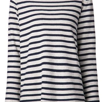 T By Alexander Wang striped french terry top