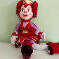Pardoes Efteling, Jester doll, clown toy, Holland Efteling Fantasy amusement park doll, magic jester doll, plush stuffed queen doll toy red