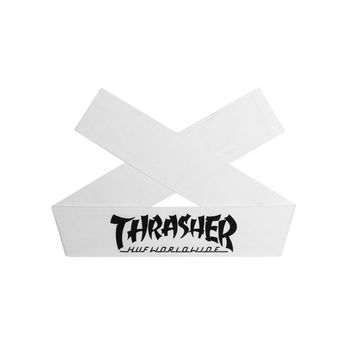 HUF - HUF X THRASHER HEADBAND // WHITE