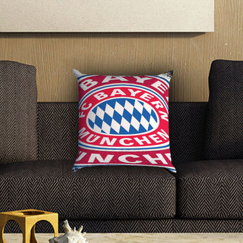BundesLiga Bayern Munich Pillow Cover , Custom Zippered Pillow Case One Side Two SIde