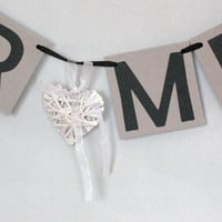 MR & MRS Wedding Banners Date Signs Sweetheart Table Banner Rustic Chic Wedding Decor Bridal shower