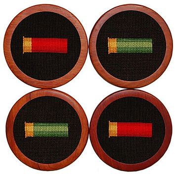 Shotgun Shells Needlepoint Coasters by Smathers & Branson