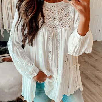 Kiss Lace Tunic Top