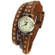 Brown Leather Geneva Roman Numeral Watch