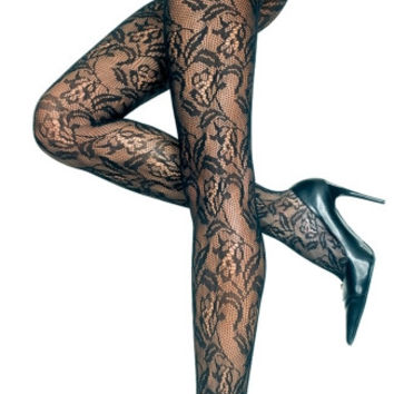 Seamless Floral Lace Pantyhose