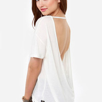 Obey Modern Lowback Backless Ivory Top