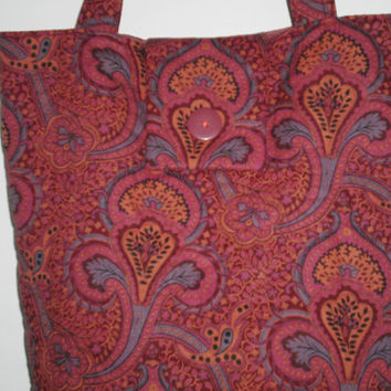 Tote Bag New Handcrafted Ethnic Indian Design Travel Tote Knitting Crocheting Crafts Computer Shopping Bag
