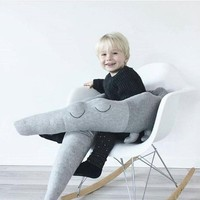 Newborn Baby Bed Bumper 185cm Infant Bed Crib Protection Kid Baby Bedding Accessories Children Crocodile Pillow Toddler Room Toy