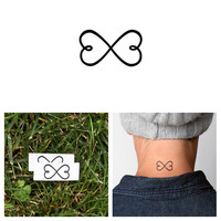 Infinity Heart - Temporary Tattoo (Set of 2)