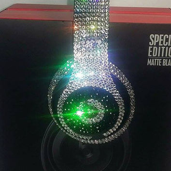 Beats by Dre Headphones made with Swarovski Crystals  #1 Custom Beats Seller We BEAT Any Deal!!! 1700 Sales On Etsy  5 Star Rating