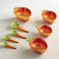 Carrot Measuring Cups & Spoons