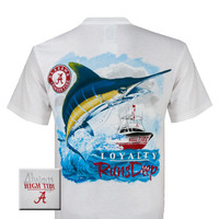 Alabama Crimson Roll Tide Bama High Tide Loyalty Runs Deep Fish Unisex Bright T-Shirt