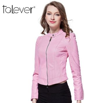 New Fashion Women's Leather Jacket Red Suede Hot Spring Pu Blazer Zippers Coat Leather jackets for Women Slim Jaqueta Couro