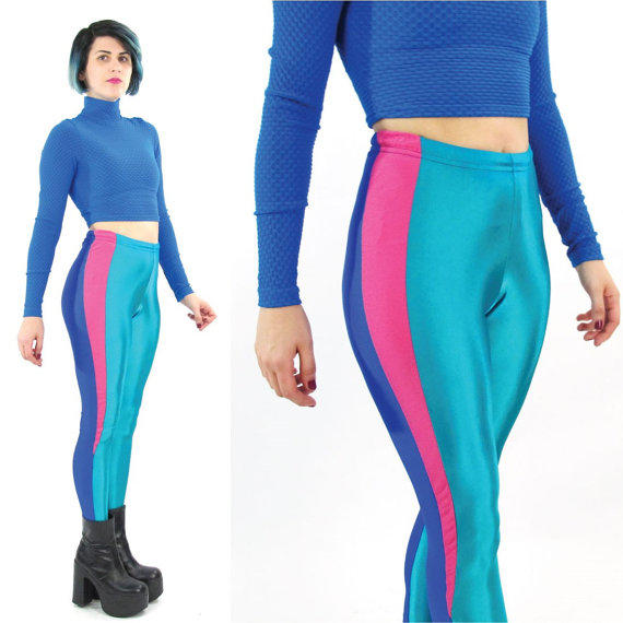 80s Neon Leggings Stretchy Spandex from Honey Moon Muse ...