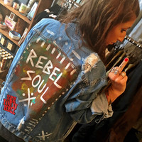 Rebel Soul Patched Denim Jacket