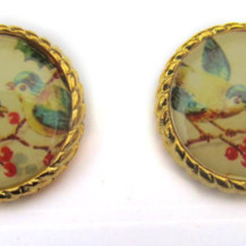 Earring Bird Vintage Style Shabby Chic Jewellery by TheDorothyDays