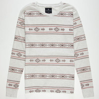 Shouthouse Tribal Print Mens Thermal Oatmeal  In Sizes