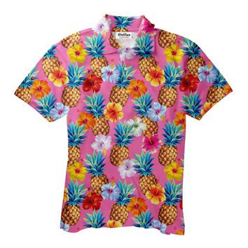 Pineapple Punch Men's Polo Shirt