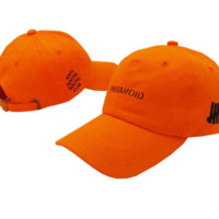 Treny Orange Anti Social Club Paranoid Embroidered Outdoor Baseball Cap Hats