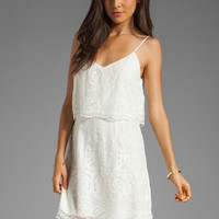 Dolce Vita Jeralyn Silk Embroidery Mini Dress in Snow from REVOLVEclothing.com