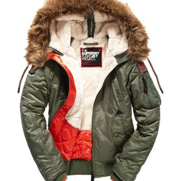Womens - SD-3 Winter Bomber Jacket in Olive | Superdry