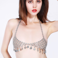 Handcrafts Sexy Metal Tassels Body Accessory [9693126093]