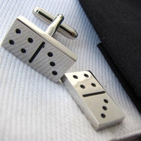 Game Cufflinks - Domino cufflnks - Board game cuff links -  Dominoes cuff links - Gift for mens - Birthday gift
