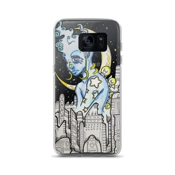 blue alien phone Case for Samsung