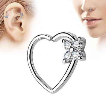 ac PEAPO2Q Heart Shape Nose Ring High-quality Multi-functional Earrings Piercing Tragus Jewelry