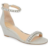 Jewel Badgley Mischka Mel Wedge Sandal (Women) | Nordstrom