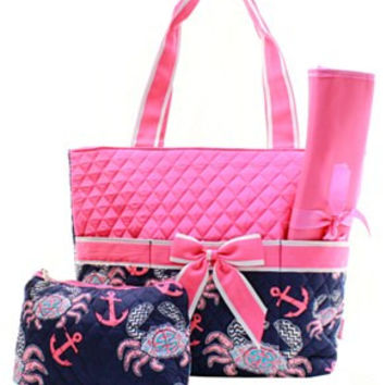 Crab Diaper Bag - 2 Color Choices