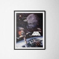 Star Wars Art Print Unique Poster, Movie Poster, Digital Download, 300dpi