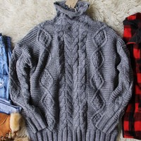 Northwest Fisherman's Sweater in Gray