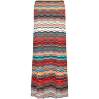 FULL TILT Ethnic Stripe Fold Over Maxi Skirt 198507957 | skirts | Tillys.com