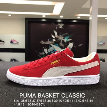 Puma Suede Classic Basket Red White Casual Shoes Sneaker - 365748-01