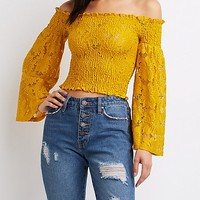Smocked Off The Shoulder Top | Charlotte Russe