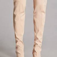 Over-the-Knee Cutout Sock Boots