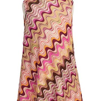 Girl's Missoni Wave Knit Sleeveless Dress,
