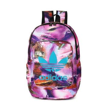 CREYUP0 Adidas Fashion Print Sport School Shoulder Bag Satchel Travel Bag Backpack