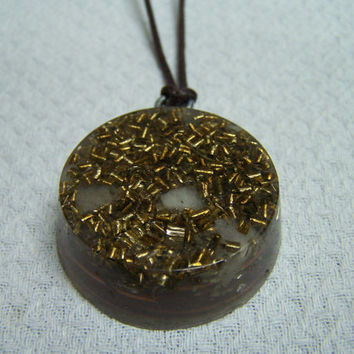 Pendant Round Orgone - EMF protection - Energy Healing - Positive Energy Necklace