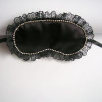 Black Lace Mask,Wedding Mask Eye Mask,Bridal Lace Sleep Mask
