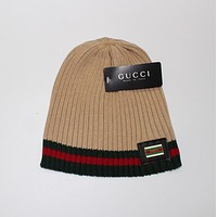 Gucci Print Hiphop Women Men Beanies Winter Knit Hat Cap