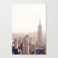 New York City Above the Cityscape Canvas Print by Vivienne Gucwa